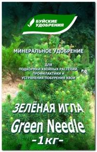 Удобрение минеральное сухое в гранулах Зелёная игла Средство  от побурения хвои 1 кг