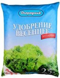 Удобрение органоминеральное в гранулах Огородник Весеннее 2,5  кг