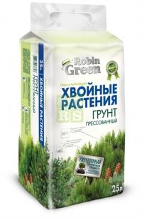 Почвогрунт Robin Green брикетированный для хвойных растений 25 л