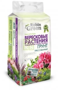 Почвогрунт Robin Green брикетированный для вересковых растений 25 л