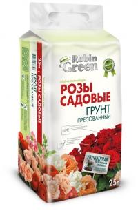 Почвогрунт Robin Green брикетированный для садовых роз 25 л
